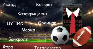 Основные термины в ставках на спорт